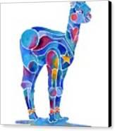 Alpaca Cria Heartz N Starz Canvas Print