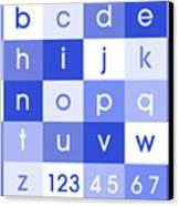 Alphabet Blue Canvas Print by Michael Tompsett
