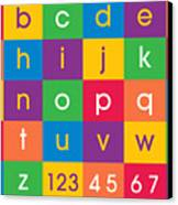 Alphabet Colors Canvas Print by Michael Tompsett