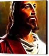 Amazing Jesus Portrait Canvas Print by Pamela Johnson