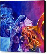 Ambassador Of Jazz - Louis Armstrong Canvas Print by David Lloyd Glover