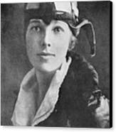 Amelia Earhart, Us Aviation Pioneer Canvas Print by Science, Industry & Business Librarynew York Public Library