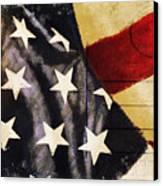 America Flag Pattern Postcard Canvas Print