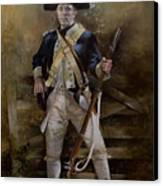 American Infantryman C.1777 Canvas Print by Chris Collingwood