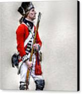 American Revolution British Soldier  Canvas Print by Randy Steele