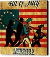American Revolution Soldier Vintage Canvas Print by Aloysius Patrimonio