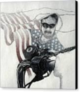 American Rider Canvas Print