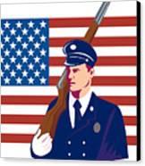 American Soldier Flag Canvas Print by Aloysius Patrimonio