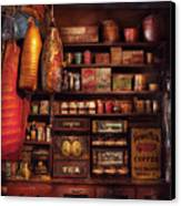 Americana - Store - The Local Grocers  Canvas Print by Mike Savad