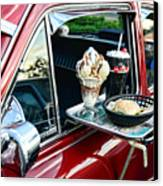 Americana - The Car Hop Canvas Print by Paul Ward