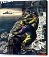America's Fishing Fleet And Men  Canvas Print by War Is Hell Store