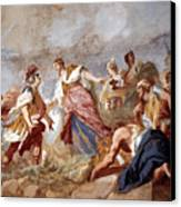 Amigoni: Dido And Aeneas Canvas Print by Granger