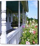 Amish Porch Canvas Print by Ed Smith