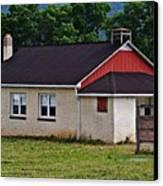 Amish School In Rote, Pa Canvas Print by Stephanie Calhoun