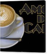 Amore Del Caffe Poster Canvas Print