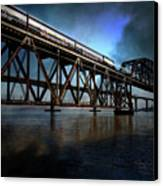 Amtrak Midnight Express 5d18829 Canvas Print by Wingsdomain Art and Photography