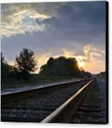 Amtrak Railroad System Canvas Print by Carolyn Marshall