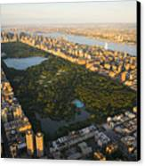 An Aerial View Of Central Park Canvas Print by Michael S. Yamashita