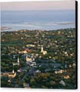 An Aerial View Of Chatham Canvas Print by Michael Melford