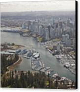 An Aerial View Of The City Of Vancouver Canvas Print