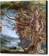 An Ancient Beech Tree Canvas Print by Paul Sandby