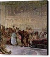 An Egyptian Feast Canvas Print by Edwin Longsden Long