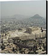 An Elevated View Of The Parthenon Canvas Print