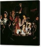 An Experiment On A Bird In The Air Pump Canvas Print by Joseph Wright of Derby