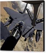 An F-15 Strike Eagle Prepares Canvas Print by Stocktrek Images