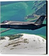An F-35 Lightning II Flies Over Destin Canvas Print by Stocktrek Images