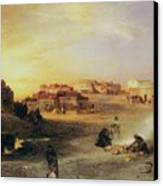 An Indian Pueblo Canvas Print by Thomas Moran