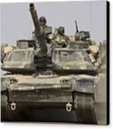 An M1a1 Abrams Tank Heading Canvas Print