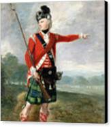 An Officer Of The Light Company Of The 73rd Highlanders Canvas Print by Scottish School