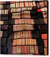 Andean Textile Market Canvas Print