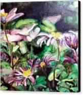 Anemones Japonaises Canvas Print