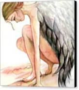 Angel Bowed Canvas Print