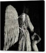 Angel Bw Canvas Print