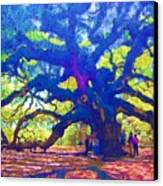 Angel Oak Tree Canvas Print