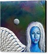 Angel Of The Shepherd Moon Canvas Print by Lee Pantas