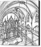 Angel Orensanz Sketch 3 Canvas Print by Adendorff Design