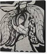 Angel Receiving Prayer Canvas Print