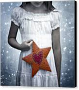 Angel With A Star Canvas Print