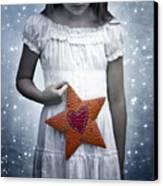 Angel With A Star Canvas Print by Joana Kruse