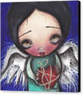Angel With Heart Canvas Print