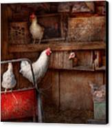 Animal - Chicken - The Duck Is A Spy  Canvas Print by Mike Savad