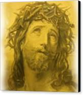 Anne Anastasi Christ Pencil Canvas Print