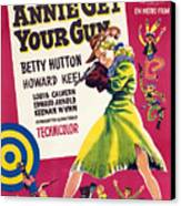 Annie Get Your Gun, Betty Hutton, 1950 Canvas Print