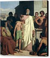 Annointing Of David By Saul Canvas Print by Felix-Joseph Barrias