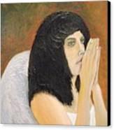 Annolita Praying Canvas Print
