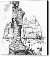 Anti-trust Cartoon, 1889 Canvas Print by Granger